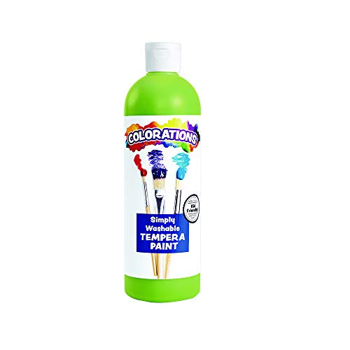 Colorations WSTAP Apple Green Simply Washable Tempera, 16oz.