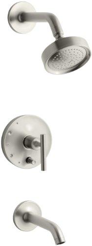 KOHLER K-T14420-4-BN Purist Rite-Temp Pressure-Balancing Bath and Shower Faucet Trim, Vibrant Brushed Nickel (Purist Rite Balancing Temp Pressure)