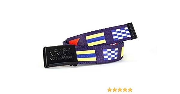 Cinturón Náutico azul con las banderas náuticas - cinto marinero ...