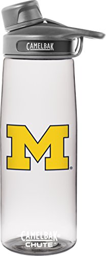 NCAA Michigan Wolverines Chute Collegiate Water Bottle, 75 L, Clear by CamelBak (Image #1)