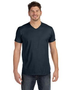 Hanes Men's Cotton Nano V-Neck T-Shirt,Vintage Black,2XL -