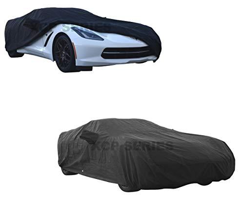 - C5 C6 Custom Corvette Car Cover - Breathable, Indoor and Outdoor Automotive Accessories - Dust, UV Ray, Mist, Vehicle Protection - Full Semi-Custom Fit - Elastic Hem and Bonus Storage Bag (Black)