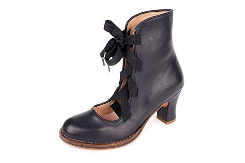 mujer 37 negro Piel de Neosens negro de cordones Zapatos para Lisa z0IqvBTw