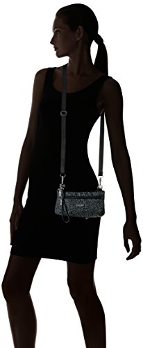 Nylon with Bag Pewter Floral Strap Adjustable Mini �C Baggallini Crossbody Plaza Bag Crossbody Lightweight Wallet Wristlet Removable YxwPHtqZ