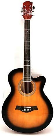 ギター マット標準機器41インチの明るいフル・サイプレス初心者はアコースティックギター入門します アコースティックギター (Color : Sunset color, Size : 41 inches)