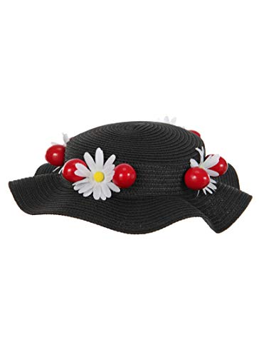 elope Disney Mary Poppins Classic Black Costume Hat]()