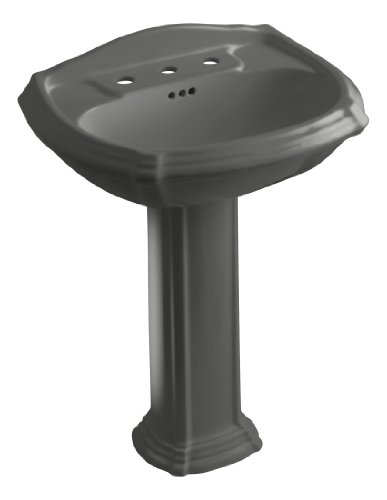 Portrait Pedestal Grey - KOHLER K-2221-8-58 Portrait Pedestal Bathroom Sink with 8