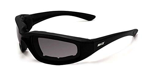 Billys Biker Gear Maxx Foam Motorcycle Sunglasses Smoke Lenses