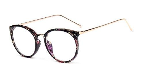 jambe d¡§?cran Embryform gouttes montures de lunettes r¡§?tro costume lunettes rondes cadre verres 2081