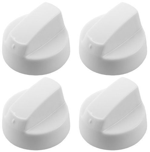 First4spares - Bouton de Commande Universel Blanc pour Fours, Cuisiniè res et Plaque de Cuisson (Pack de 4) Cuisinières et Plaque de Cuisson (Pack de 4)