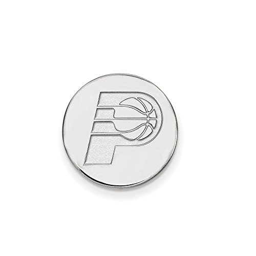 NBA Indiana Pacers Lapel Pin in 14K White Gold by LogoArt