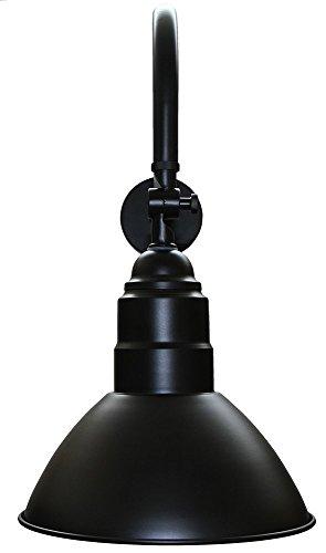 Gooseneck barn light fixture black adjustable lamp shade 1 pack gooseneck barn light fixture black adjustable lamp shade 1 pack amazon aloadofball Images