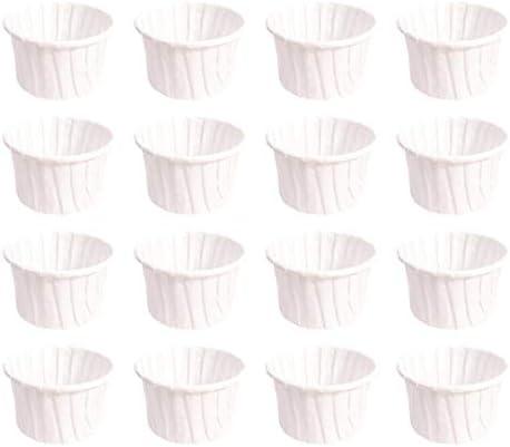 [スポンサー プロダクト]OUNONA ベーキングカップ 100枚入 タルト型 カップケーキ型 マフィンカップ 紙製 耐熱 耐油 DIY製菓用品(ホワイト)
