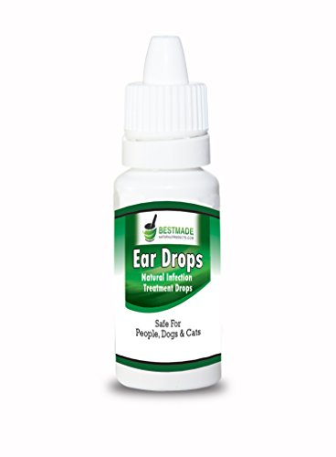 Ear Drops By BestMade | Natural Infection Treatment Drops | Safe For People, Dogs & Cats | Helps With Hearing, Otalgia, Otitis Externa, Ear Mites, Wax, Yeast, Itching & Unpleasant Odors