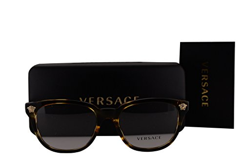 Versace VE3242 Eyeglasses 54-18-140 Havana w/Demo Clear Lens 5202 VE - Wayfarer Sunglasses Versace