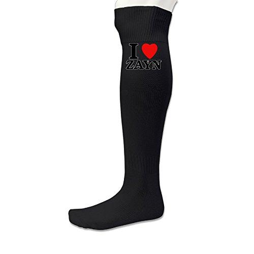 Beauty Unisex Adults Sports Athletic I Love Zayn Soccer Socks Sports Team Socks Black