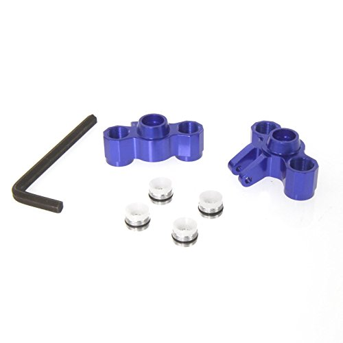 Atomik RC Alloy Front Axle Carriers - Blue fits the Traxxas 1 16 Slash 4x4 and Other Traxxas Models - Replaces Traxxas Part 7034