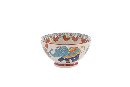 Shiraleah Home Raj Elephant Bowl, Multicolor