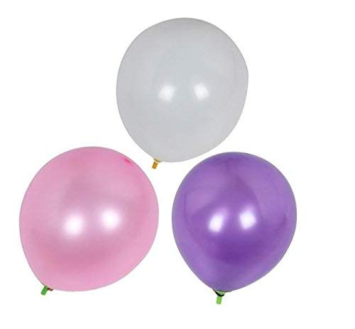 Pearl Balloons 72-Count 12 Thicked Latex Balloons Baby Shower Birthday Party Wedding Decoration (Pink&Purple&White)