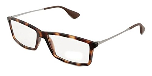 Ray-Ban Men's RX7021 Matthew Eyeglasses Rubber Havana - Havana Eyeglass Ban Ray Frames