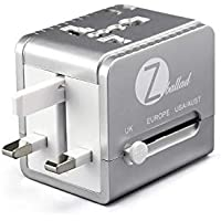 Zballad World Travel Adapter All in One Supports Over 150 Countries Including US, AUS, NZ, Europe, UK