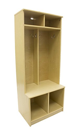 Little Partners Two Cubby Kids Wooden Locker – Six Storage Sections – Durable Construction (Natural) by Little Partners