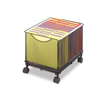 Mobile File Cube - Safco Mesh Rolling File Cube w/Caster,13.5quot;x16.75quot;x13quot,Steel,BK