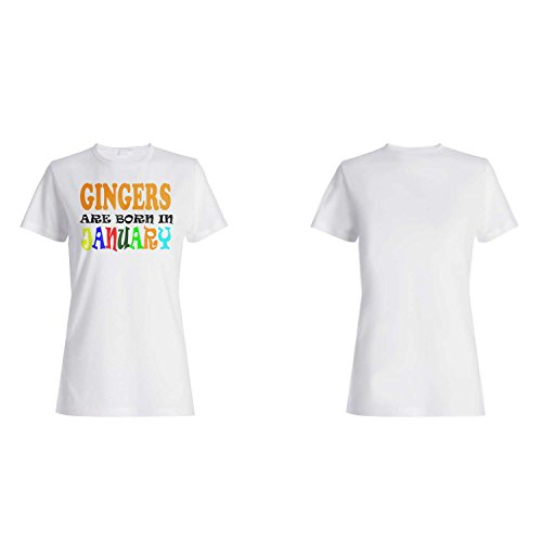 GINGERS GEBOREN IM JANUAR LUSTIG Damen T-shirt w25f