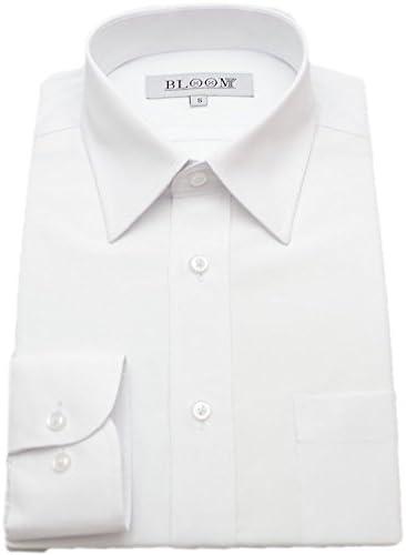 (ブルーム) BLOOM オリジナル 長袖 ワイシャツ 定番白シャツ S/M/L/LL/3L/4L/5L/6L 2タイプ 形態安定 レギュラーカラー ボタンダウン