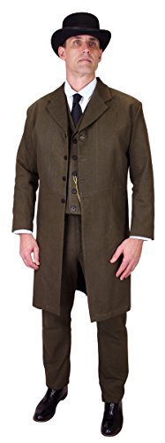 Historical Emporium Men's 100% Brushed Cotton Frock for sale  Delivered anywhere in USA