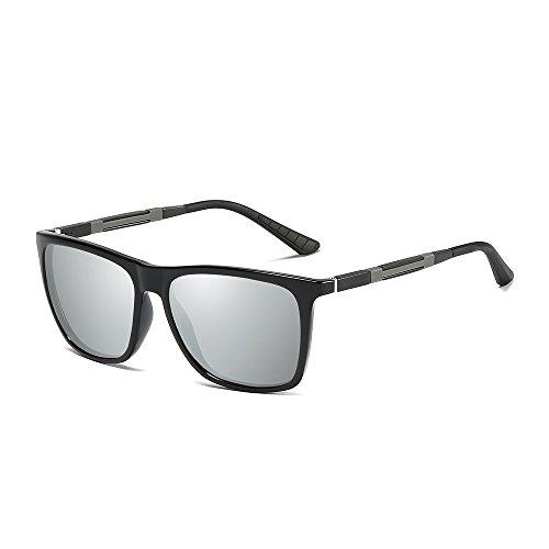 Classic Vintage Frame MG WS046 Black Polarizado Silver Gafas Modelo Marco De Sol Hombre de metal AL Gafas UV400 Lens BVAGSS Protección BwUY0qp