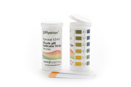 pH Strips, Hydrion ph Range 5.5-8,100 Strips Used For Testing Saliva and Urine Only