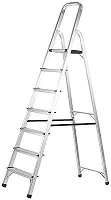 Unknow Escalera de Tijera Plataforma de Herramientas de 7 escalones Escalera de Tijera: peldaños Antideslizantes: Escalera de Aluminio liviano con Capacidad de 150 kg para el hogar Oficina Garaje J: Amazon.es: Hogar