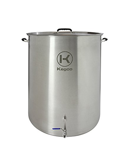 Kegco 50 Gallon Brew Kettle with Plug & 2-Piece Ball Valve
