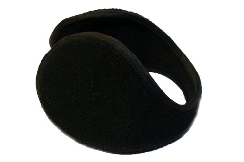 Black wraparound ear muffs earmuffs warmers Standard Thickness 7X Collection EM101