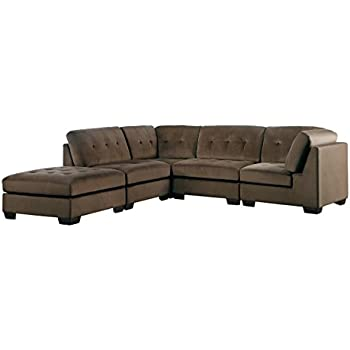 Amazoncom Homelegance Savarin 5 Piece Sectional Sofa and Ottoman