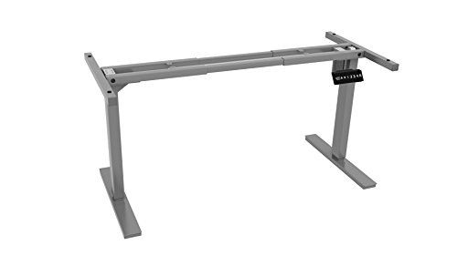 Ergo Elements Adjustable Height Standing Desk with Electric Programmable Button Base, Grey