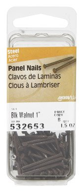 Brown Panel Nail (Hillman 532653 PANEL NAIL DARK BROWN BLACK WALNUT 1'')