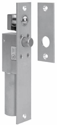 SDC 1091AIV SpaceSaver Aluminum Finish Electric Bolt Lock, Narrow Mortise, 12/24 VDC, Failsafe for 1-3/4'' Frame (Pack of 1)