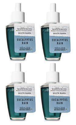 Bath and Body Works 4 Pack Eucalyptus Rain Wallflowers Fragrance Refill. 0.8 fl oz.