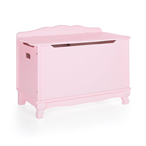 Guidecraft Classic Toy Box - Pink: Wooden Trunk & Chest, Children toys storage - Kids Furniture by Guidecraft