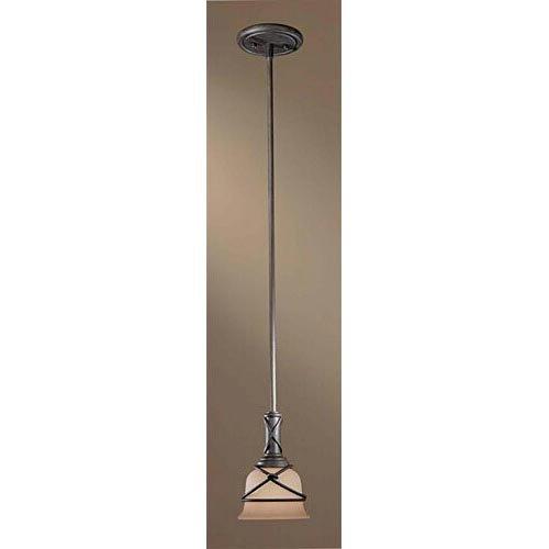 Minka Lavery Minka, 6.75 inches 977-1-138 Transitional One Aspen Collection in Bronze/Darkfinish, 6.75 inchesOne Light Mini Pendant