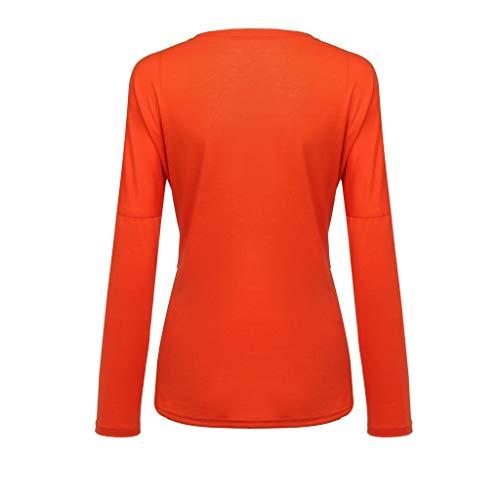 Casual 2019 Cuello Red Que Tops Contrastan Camiseta Modelos Moda Redondo Mujeres Otoño Primavera Y Larga De Manga Para xvwTqZf0p