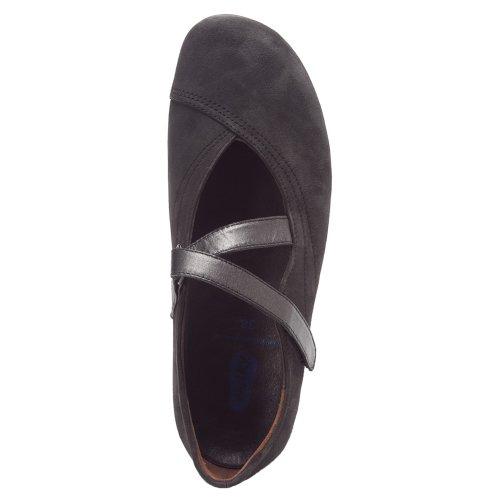 Wolky Comfort Mary Janes Noble Negro Nepal Cuero Engrasado