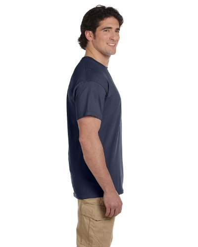 Gildan Adult Short Sleeve T in Heather Navy - Small - Navy Blue Stadium T-shirt