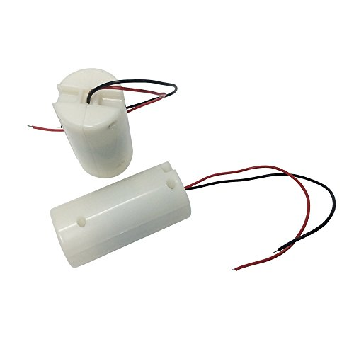 2 Pack White Battery Powered Electric 12 Volt DC Mini Vibration Motor Hand Massager Toys