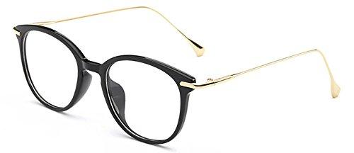 Transparentes Gafas con de diseño y para Granate Lentes Gafas de Gafas Hombre TR90 Gafas Marco para con Mujer Black Bright Vizink Vintage qYIUZw7