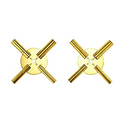 4 Prong Brass Clock Key for Winding Clocks, Odd and Even Numbers from Brass Blessing (5191)