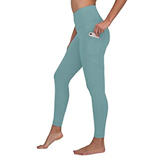 90 Degree By Reflex Womens Power Flex Yoga Pants - Azure Splash - Large