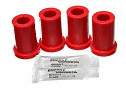 Energy Suspension 8.2104R Front Frame Shackle Bushing Set (4) (Bushing Shackle Set)